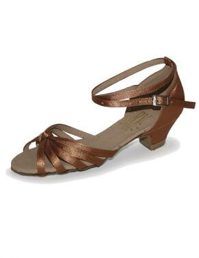 Girls and Ladies Satin Low Heel Ballroom Salsa Shoes - Roch Valley - Ilena